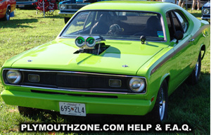 Plymouth Duster, photo from 2011 Mopar Nationals - Columbus, Ohio
